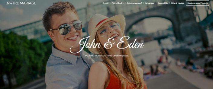 Site de mariage offert par WebCreatid