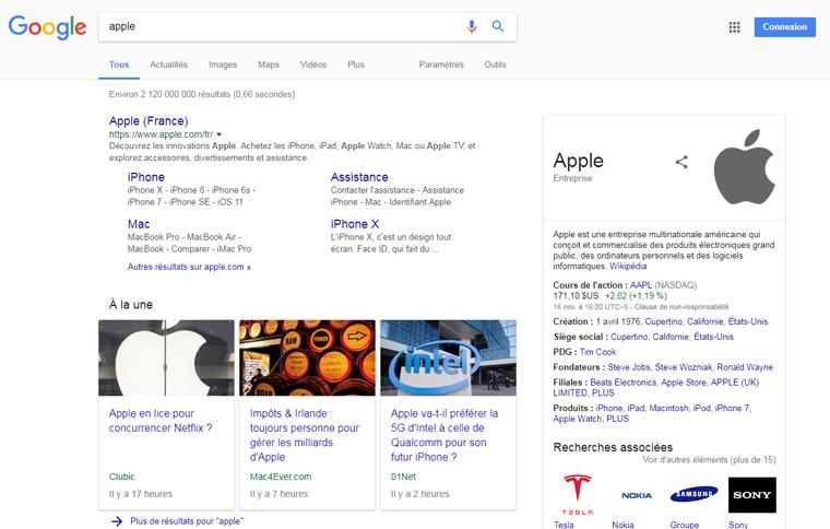 Résultats de recherche Apple aucun fruits